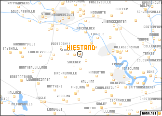 map of Hiestand