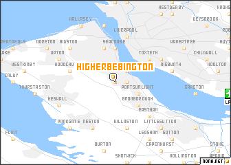 Higher Bebington United Kingdom map nonanet
