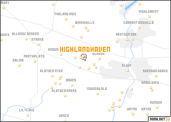 map of Highland Haven