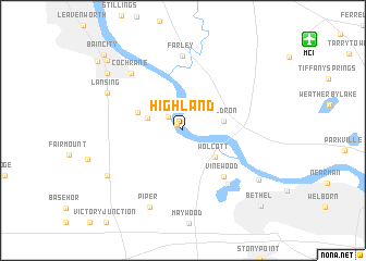 map of Highland