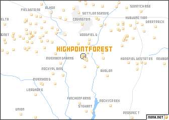 map of Highpoint Forest