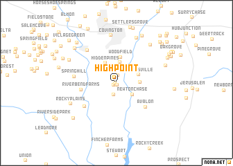 map of High Point