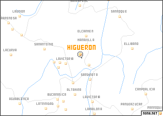 map of Higuerón