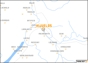 map of Hijuelas