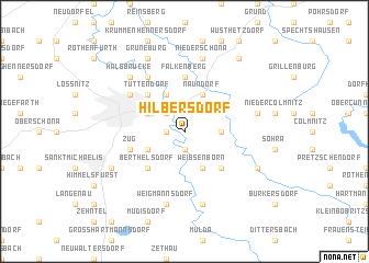map of Hilbersdorf