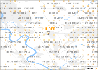 map of Hilden