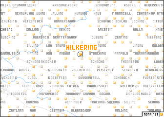 map of Hilkering