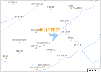map of Hillcrest