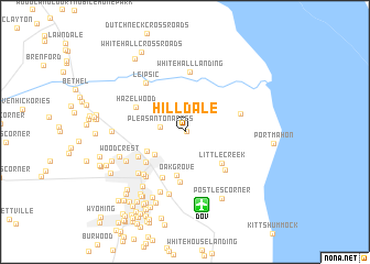 map of Hilldale