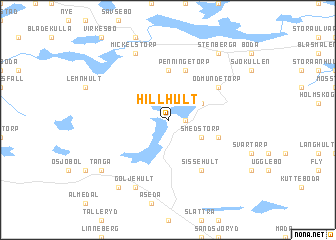 map of Hillhult