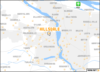 Hillsdale United States USA Map Nonanet - Oregon on a map of usa