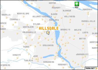 Hillsdale United States USA Map Nonanet - Oregon on a map of usa