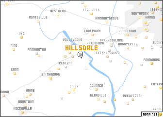map of Hillsdale