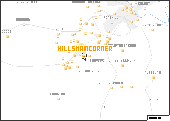 map of Hillsman Corner