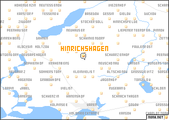 map of Hinrichshagen