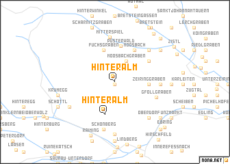 map of Hinteralm