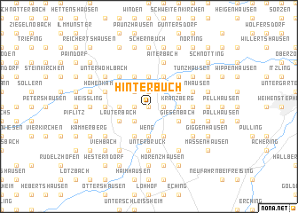 map of Hinterbuch