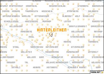 map of Hinterleithen