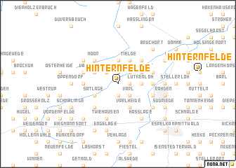 map of Hinternfelde