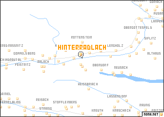 map of Hinterradlach