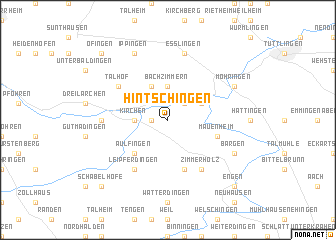map of Hintschingen