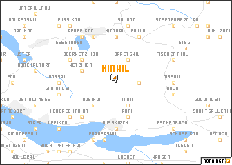 map of Hinwil