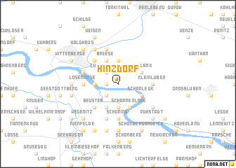 map of Hinzdorf
