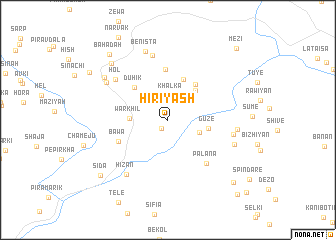 map of Hiriyash