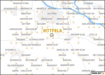 map of Hittfeld