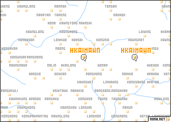 map of Hkai-mawn