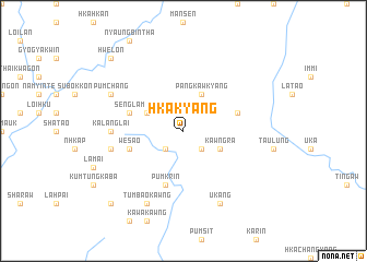 map of Hkakyang