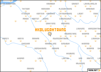 map of Hkalu-gahtawng