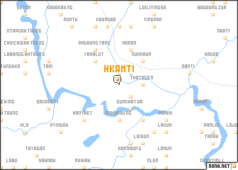 map of Hkamti