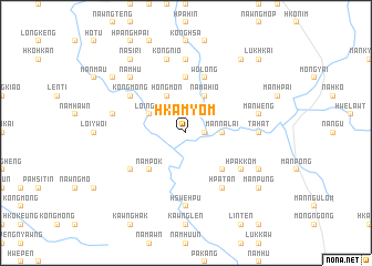 map of Hkam-yom