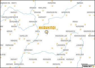 map of Hkawknoi