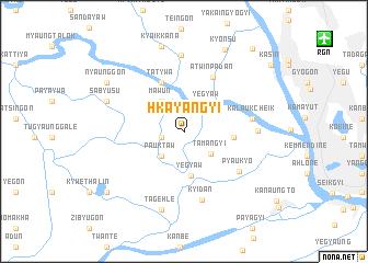 map of Hkayangyi