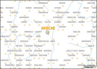 map of Hkoche