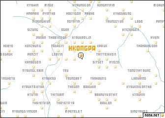 map of Hkongpa