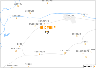 map of Hlazove