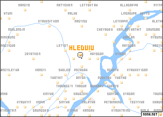 map of Hleduiu