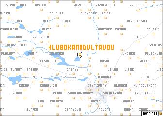 map of Hluboká nad Vltavou