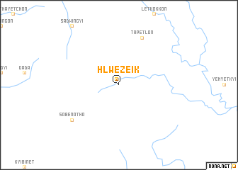 map of Hlwezeik