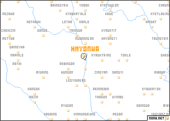 map of Hmyonwa