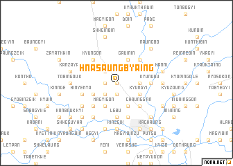map of Hnasaungbyaing