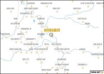 map of Hnawbin
