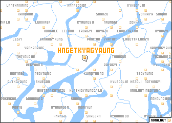map of Hngetkyagyaung