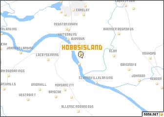 Hobbs Island United States USA map nonanet