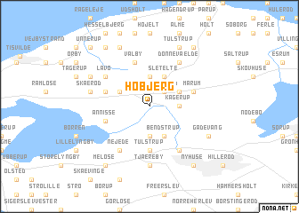 map of Høbjerg