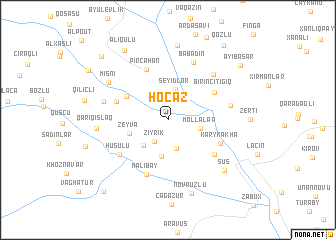 map of Hoçaz