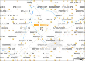 map of Hochdorf